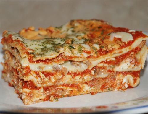 lasagna close up