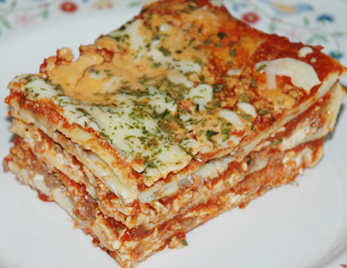 pretty slice of lasagna