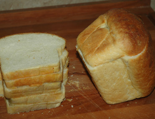 Soft White Bread Pan Loaf (Sandwich Loaf)