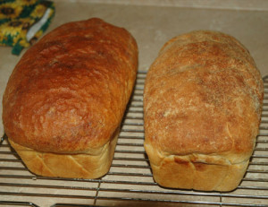 two loaves of bread