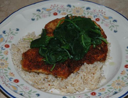 compile chicken flourentine
