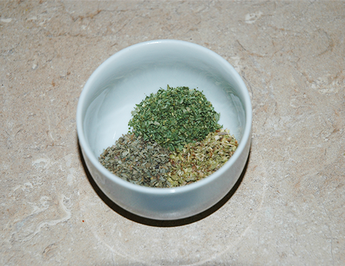basil oregano and thyme