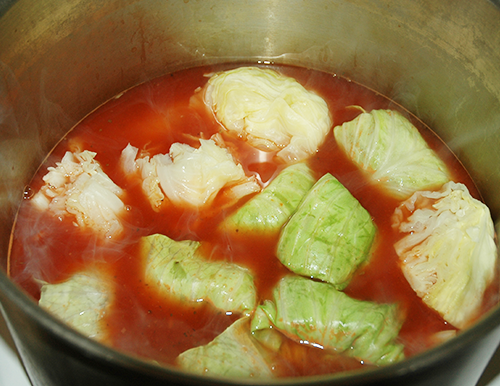 halupkies beginning simmer
