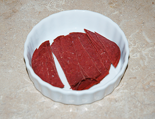 cut beef into strips