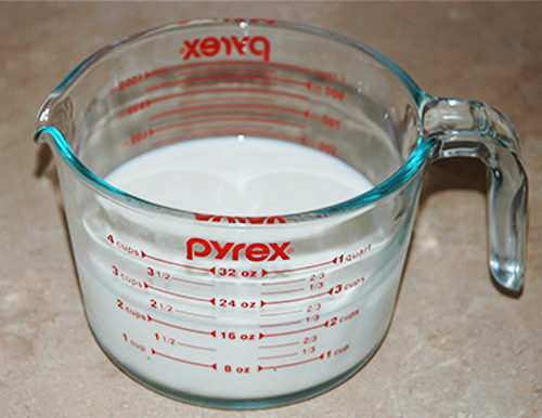 two cups whole milk