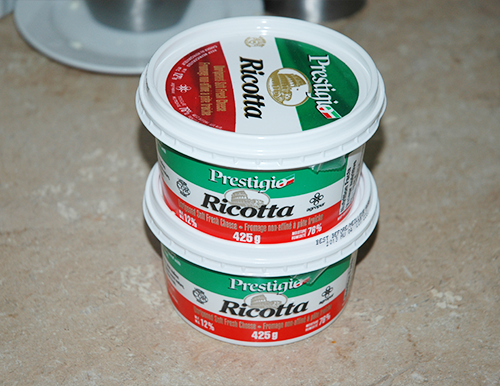 about 2 pounds ricotta cheese