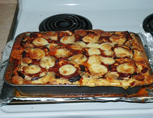 finished eggplant lasagna